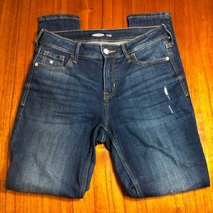 Old Navy distressed rockstar super skinny jeans